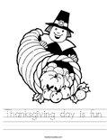 Thanksgiving day is fun Worksheet