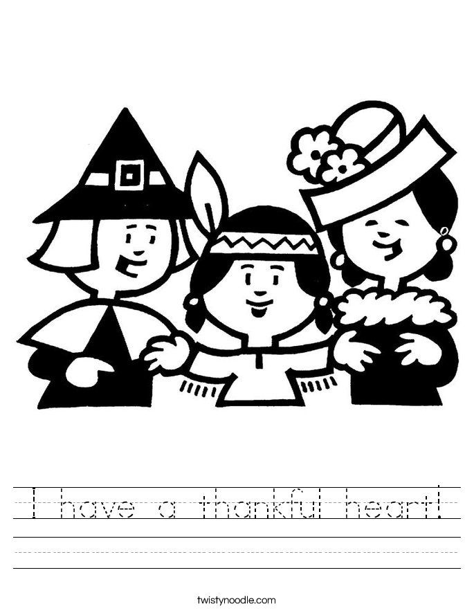 I have a thankful heart! Worksheet