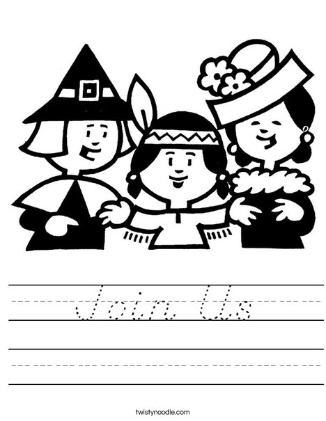 Pilgrims Worksheet