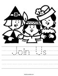 Join Us Worksheet