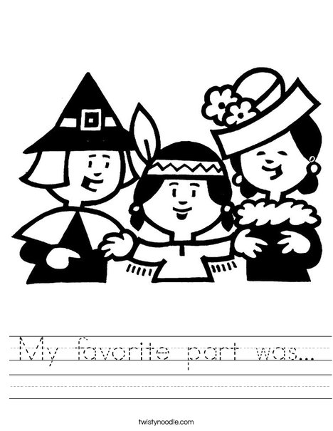 Pilgrims Worksheet