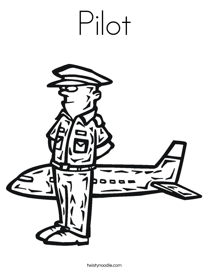 pilot coloring pages - photo#6