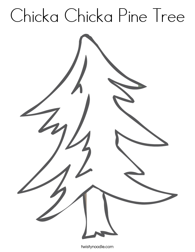 Chicka Chicka Pine Tree Coloring Page