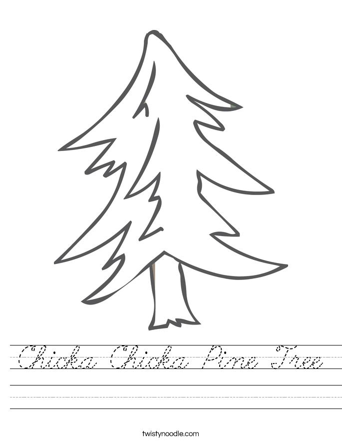 Chicka Chicka Pine Tree Worksheet