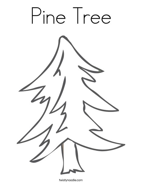 Pine Tree Coloring Page - Twisty Noodle