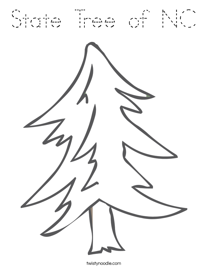 State Tree of NC Coloring Page