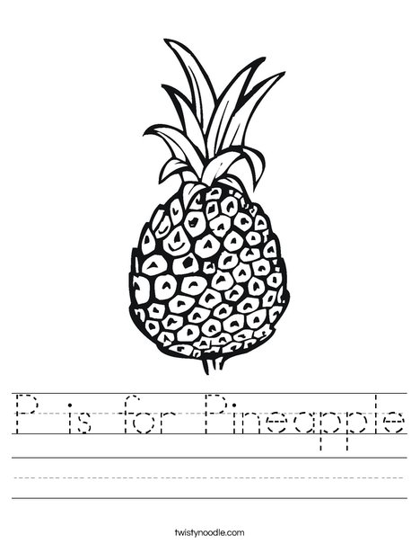 Pineapple Worksheet