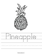 Pineapple Handwriting Sheet