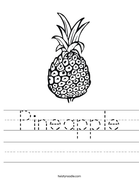 pineapple worksheet twisty noodle. Black Bedroom Furniture Sets. Home Design Ideas