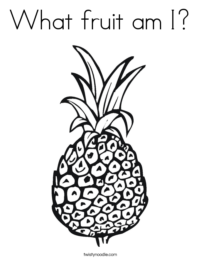 What fruit am I? Coloring Page