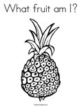 What fruit am I?Coloring Page