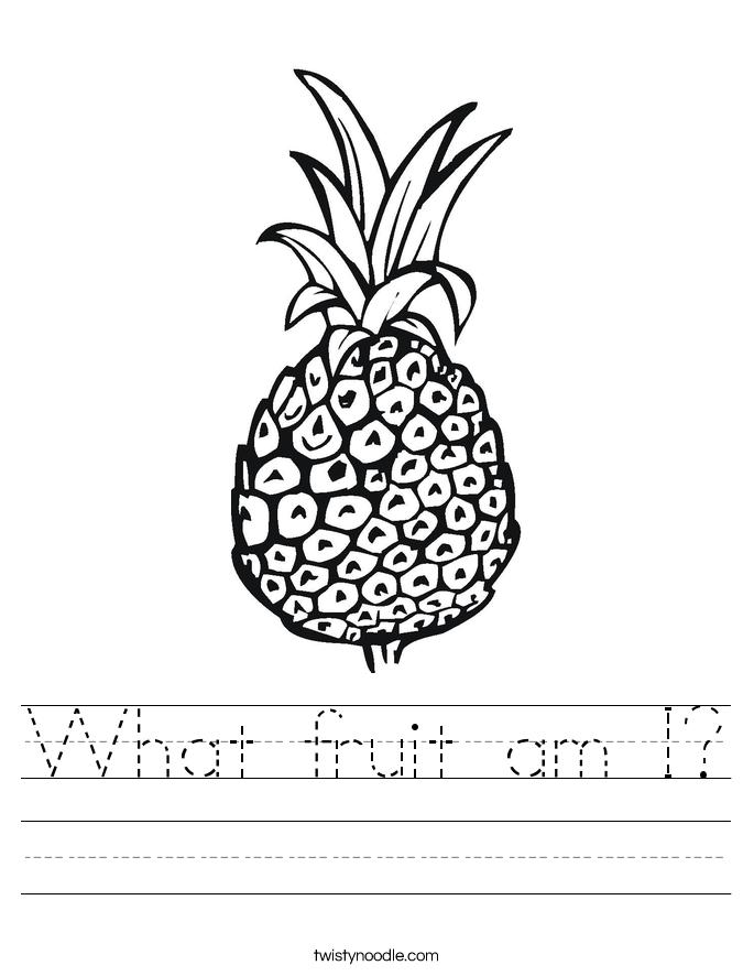 What fruit am I? Worksheet