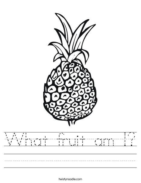 Pineapple Worksheet