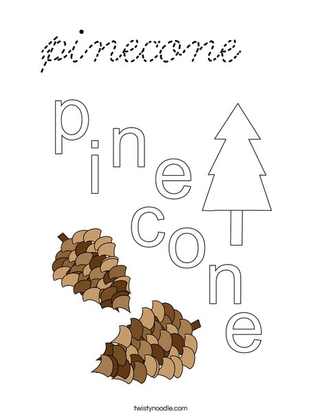 pinecone Coloring Page