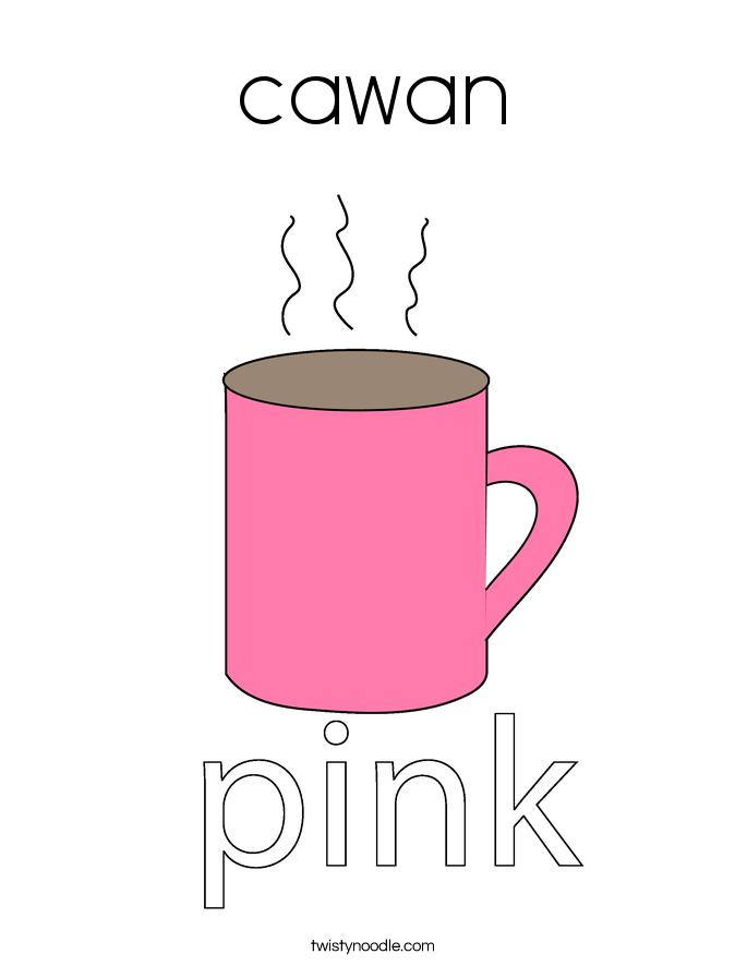 cawan Coloring Page