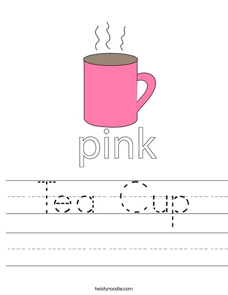 Pink Cup Worksheet