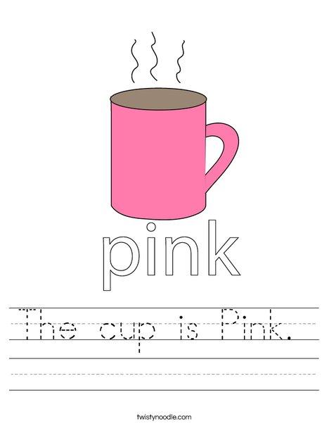 Pink Cup Worksheet