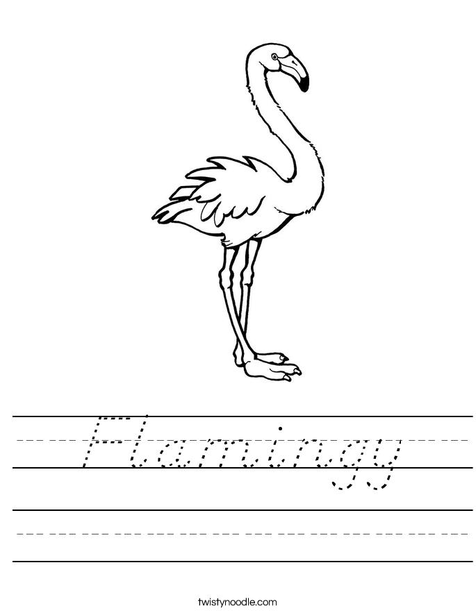 Flamingy Worksheet