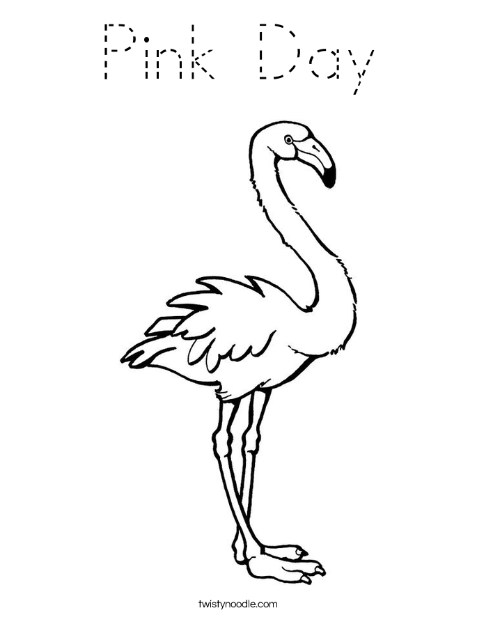 Pink Day Coloring Page