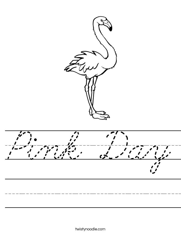 Pink Day Worksheet