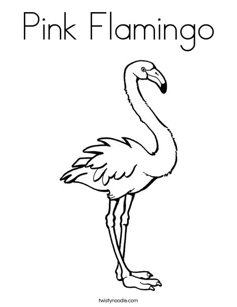 Pink Flamingo Coloring Page Twisty Noodle
