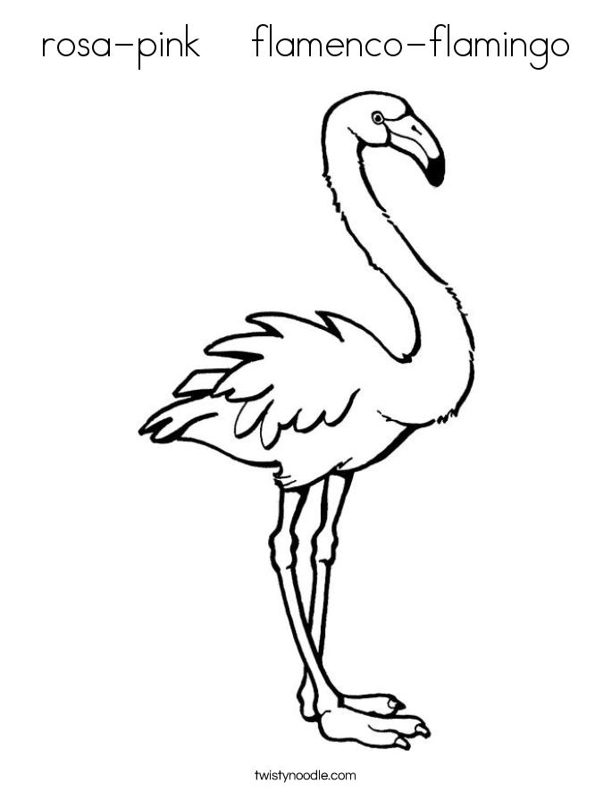 rosa-pink    flamenco-flamingo Coloring Page