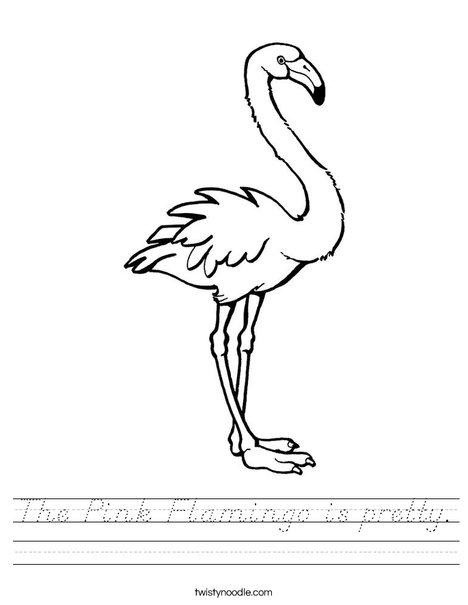 Pink Flamingo Worksheet