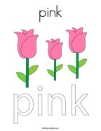 pink Coloring Page