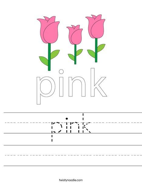 Pink Flower Worksheet