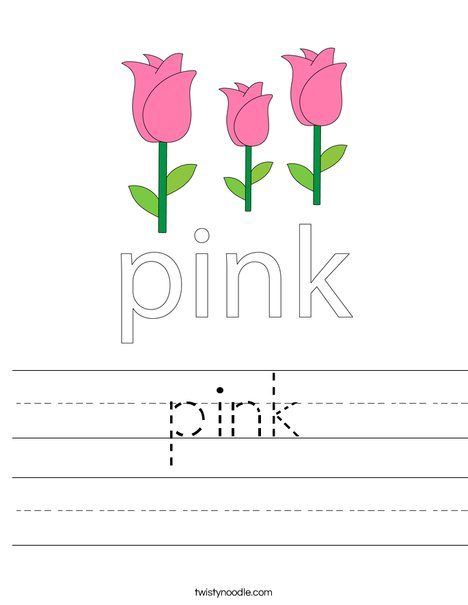 Pink Flower Worksheet