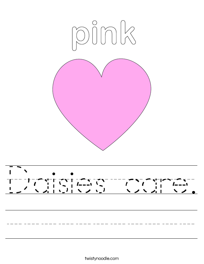 Daisies care. Worksheet