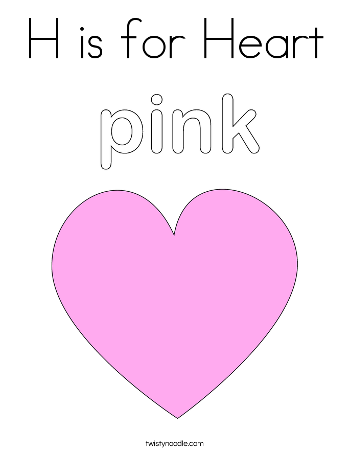 big heart coloring printable pages - photo#20