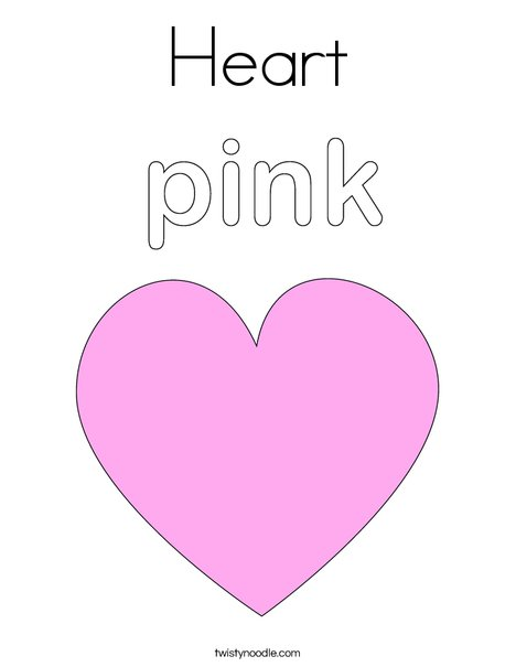 pink heart coloring page print this - Heart Coloring Pages Print
