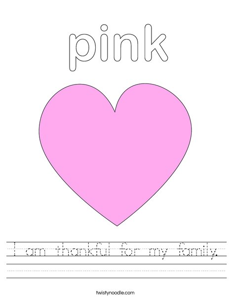 A Thankful Heart Coloring Page