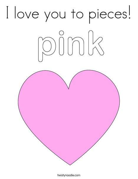 love you to pieces coloring page