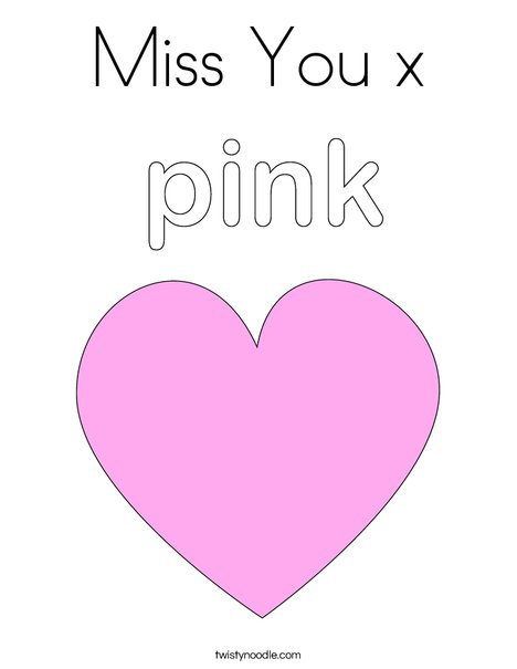 Miss You x Coloring Page - Twisty Noodle