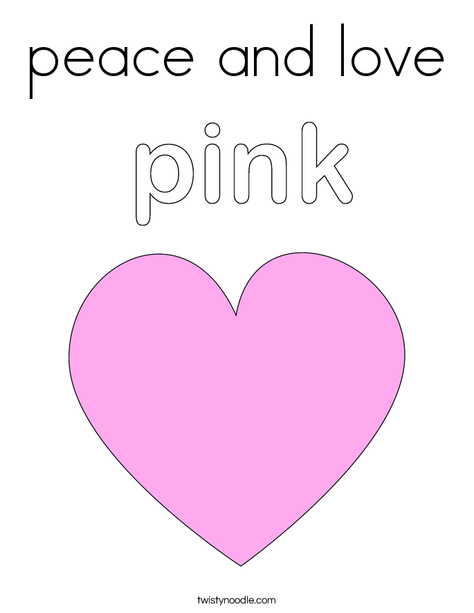 heart peace sign coloring pages - photo#36