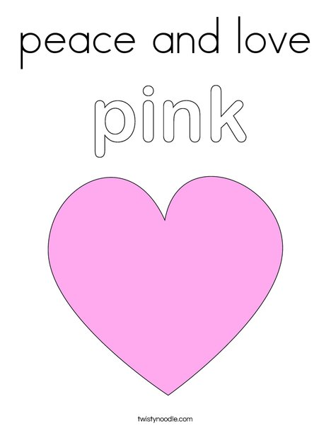 coloring pages peace love - photo#34