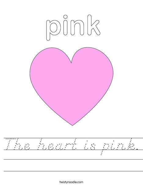 Pink Heart Worksheet