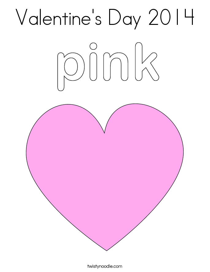 Valentine's Day 2014 Coloring Page