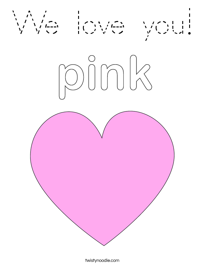we love you coloring pages - photo#5