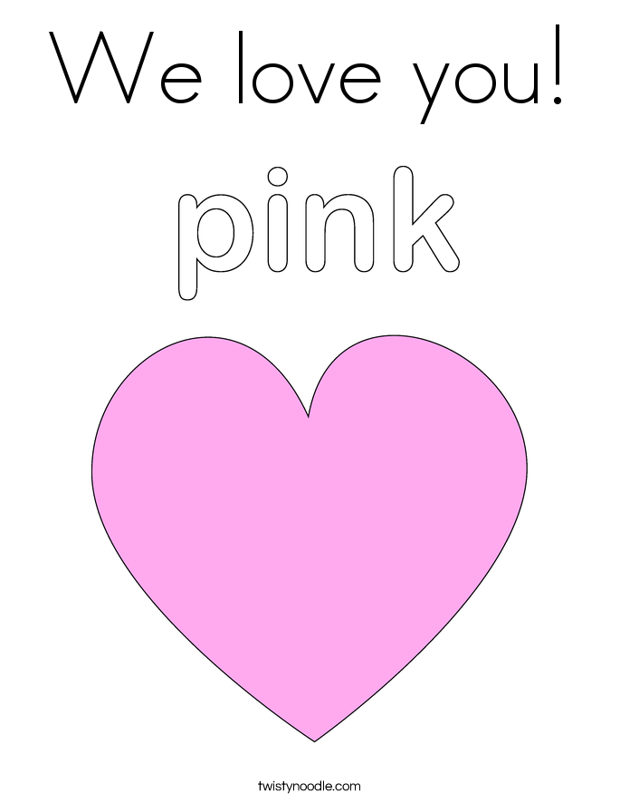 We love you Coloring Page - Twisty Noodle