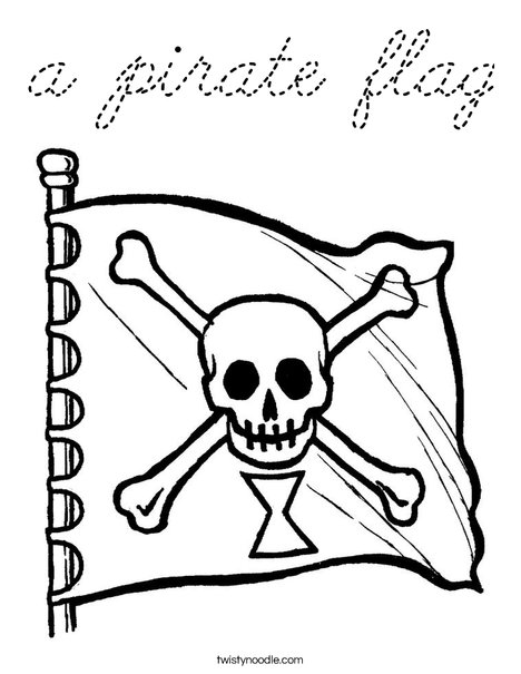 pirate flag coloring pages - photo#21