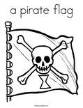 a pirate flagColoring Page