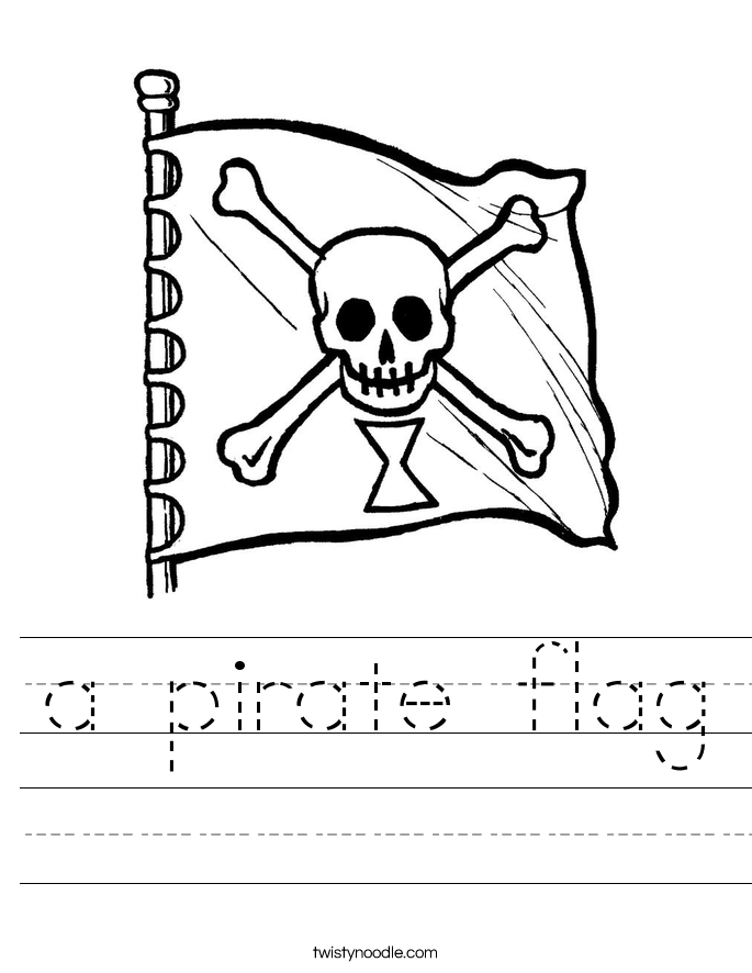 a pirate flag Worksheet