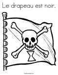 Le drapeau est noir.Coloring Page