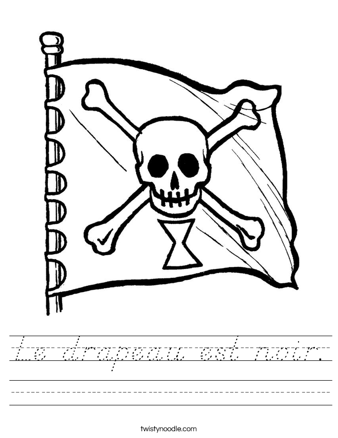 Le drapeau est noir. Worksheet