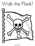 Walk the Plank!Coloring Page