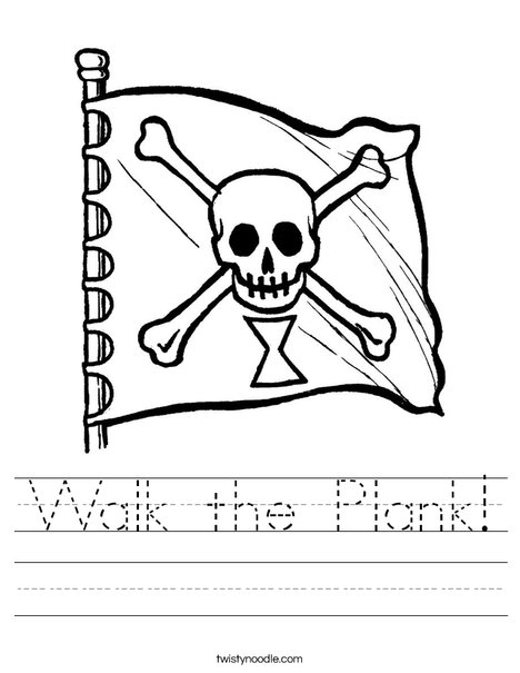 Pirate Flag Worksheet