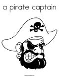a pirate captain Coloring Page